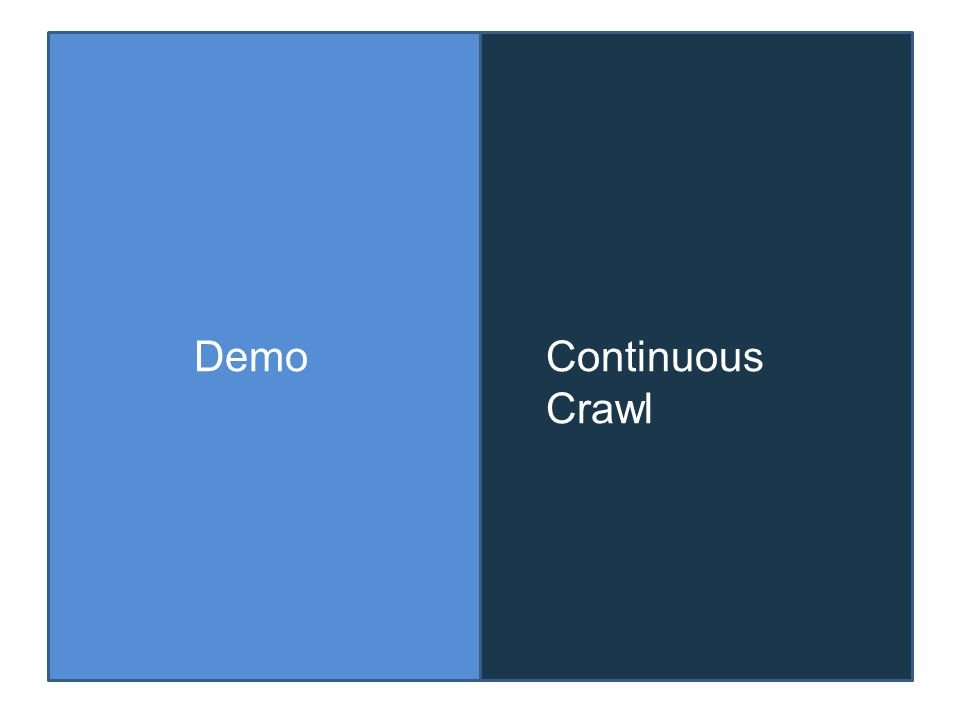 DemoContinuous Crawl