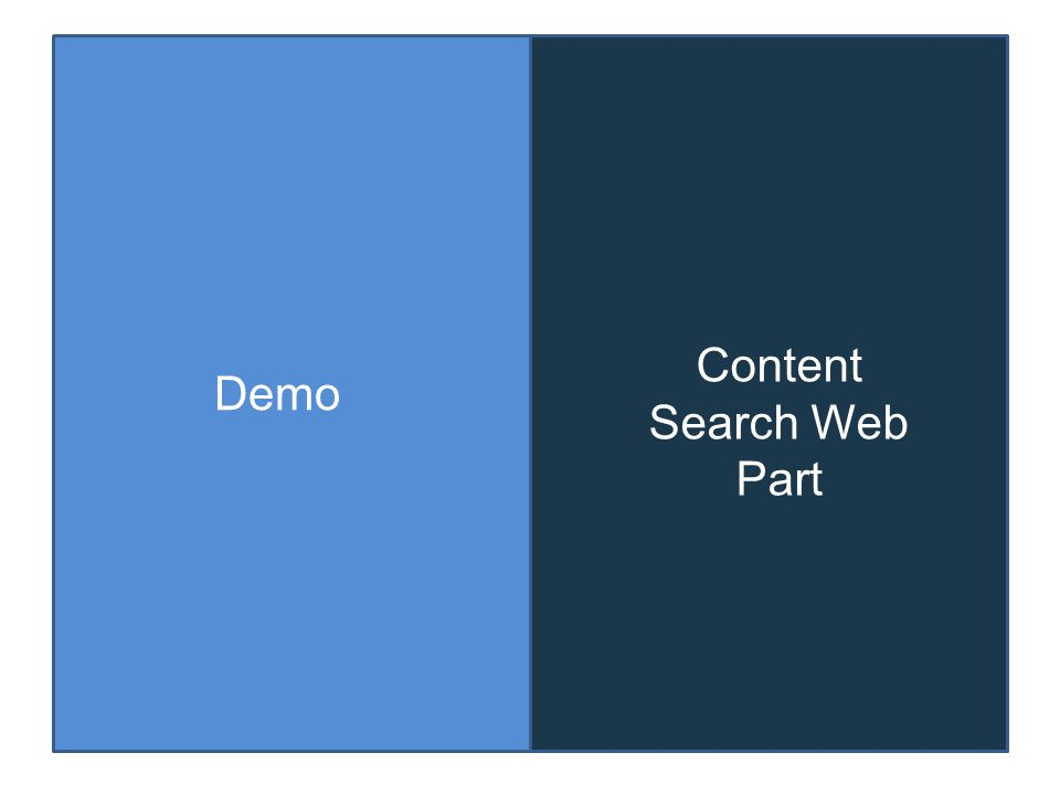 Demo Content Search Web Part