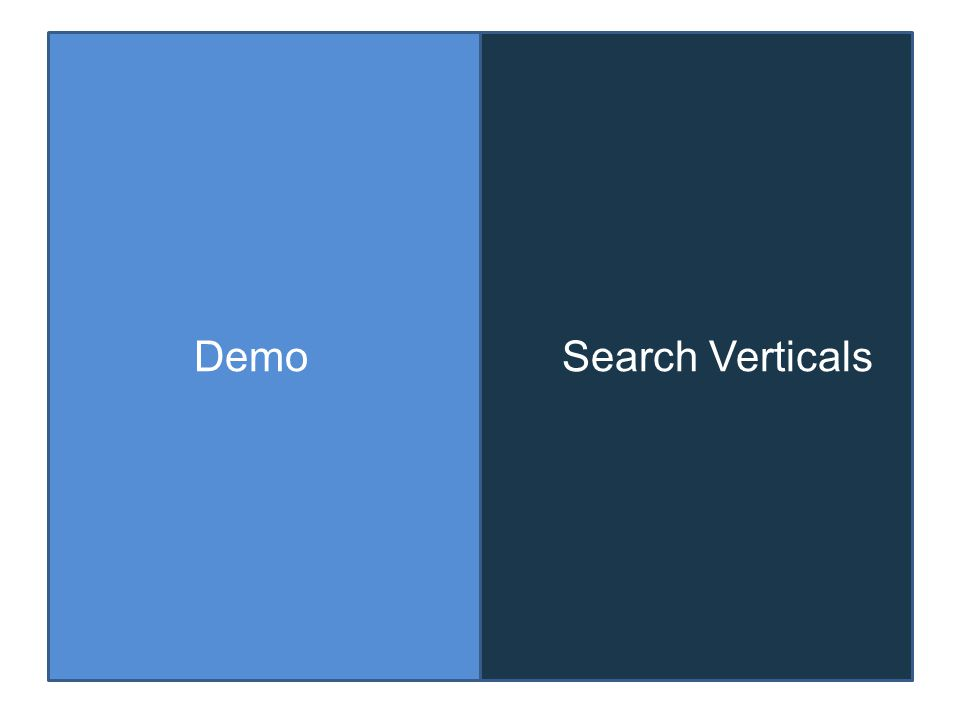 DemoSearch Verticals