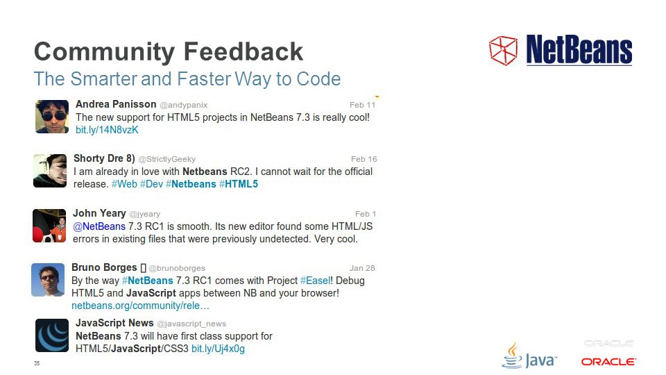35 Community Feedback The Smarter and Faster Way to Code