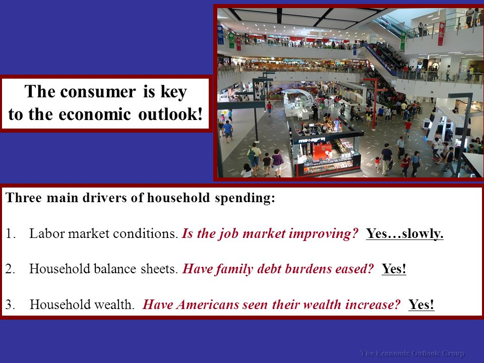 The consumer is key to the economic outlook.