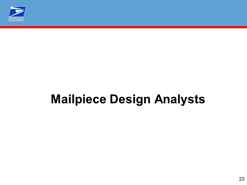 Mailpiece Design Analysts 20