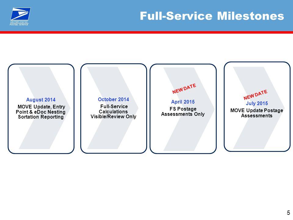 Full-Service Milestones 5 NEW DATE