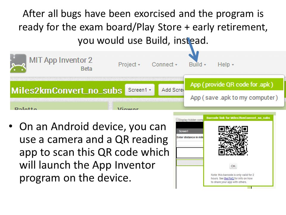 Some of the free apps that will work with QR codes…