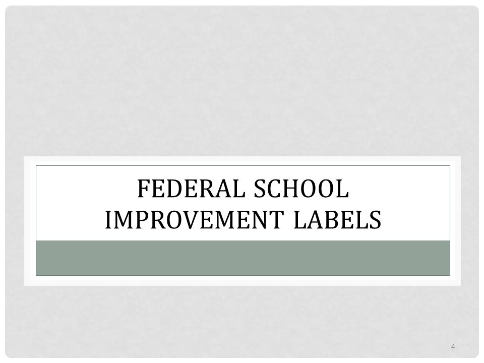 FEDERAL SCHOOL IMPROVEMENT LABELS 4