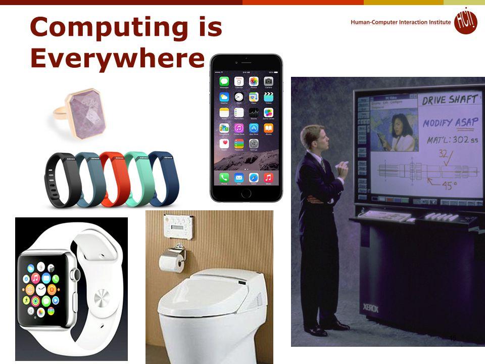 Computing is Everywhere © 2015 - Brad Myers15