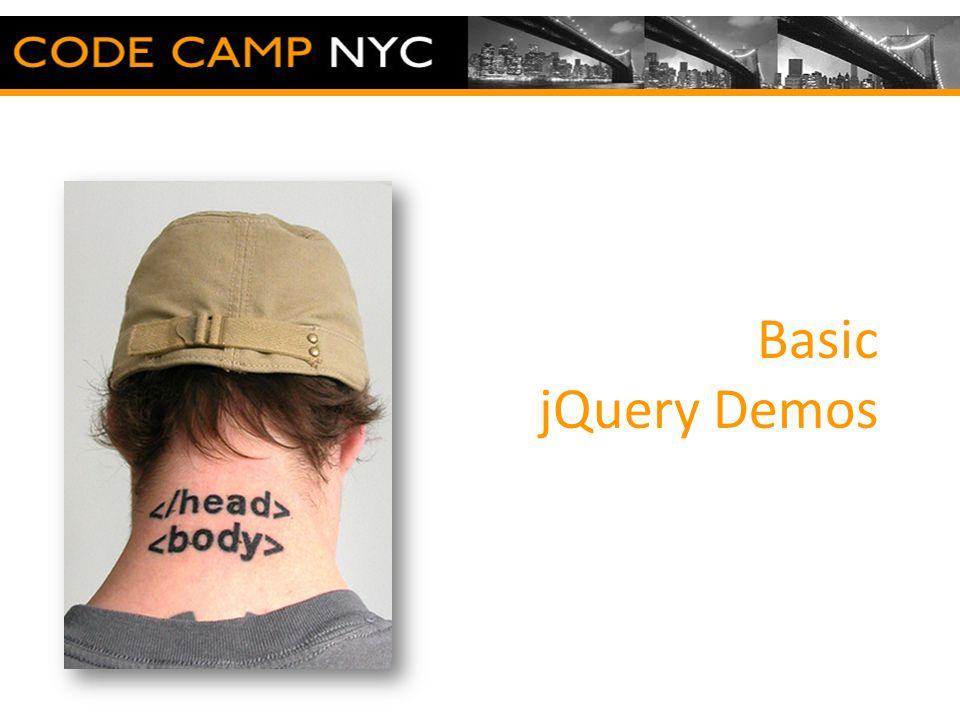 Basic jQuery Demos
