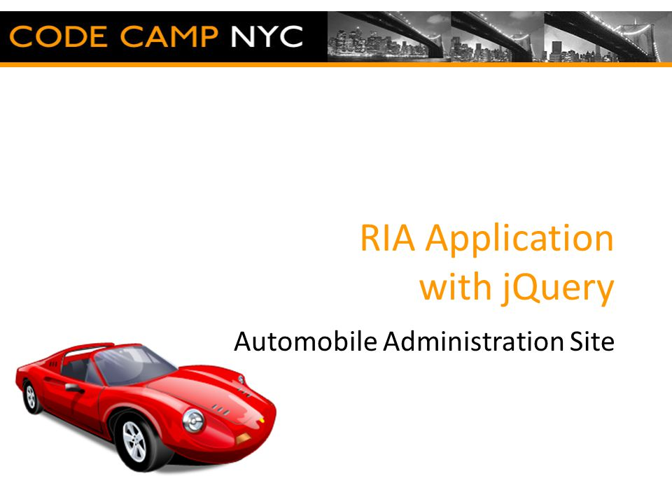 RIA Application with jQuery Automobile Administration Site