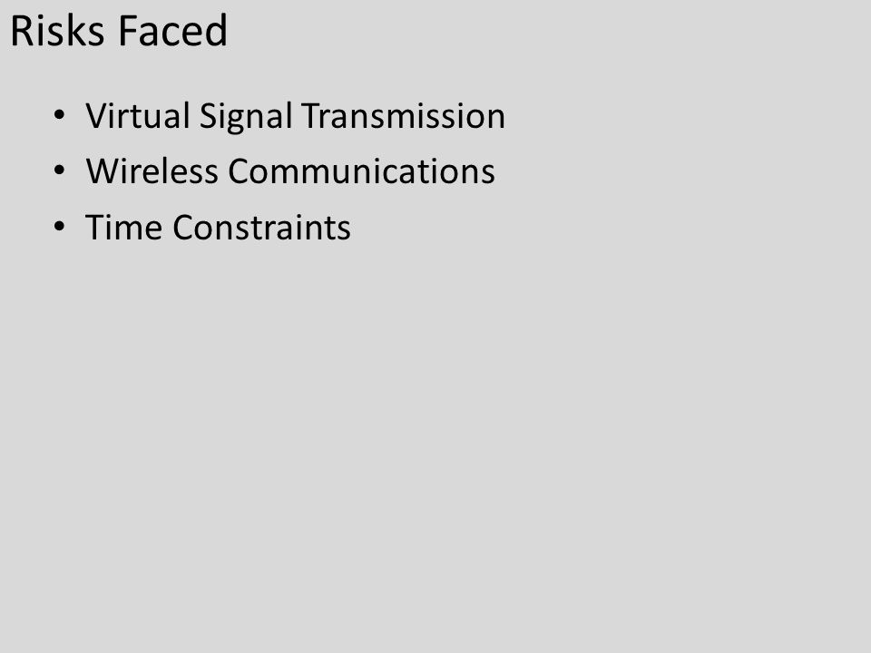 Risks Faced Virtual Signal Transmission Wireless Communications Time Constraints
