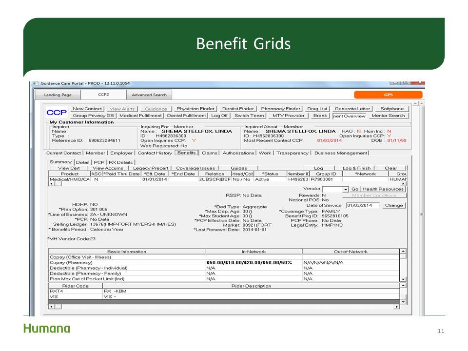 11 Benefit Grids