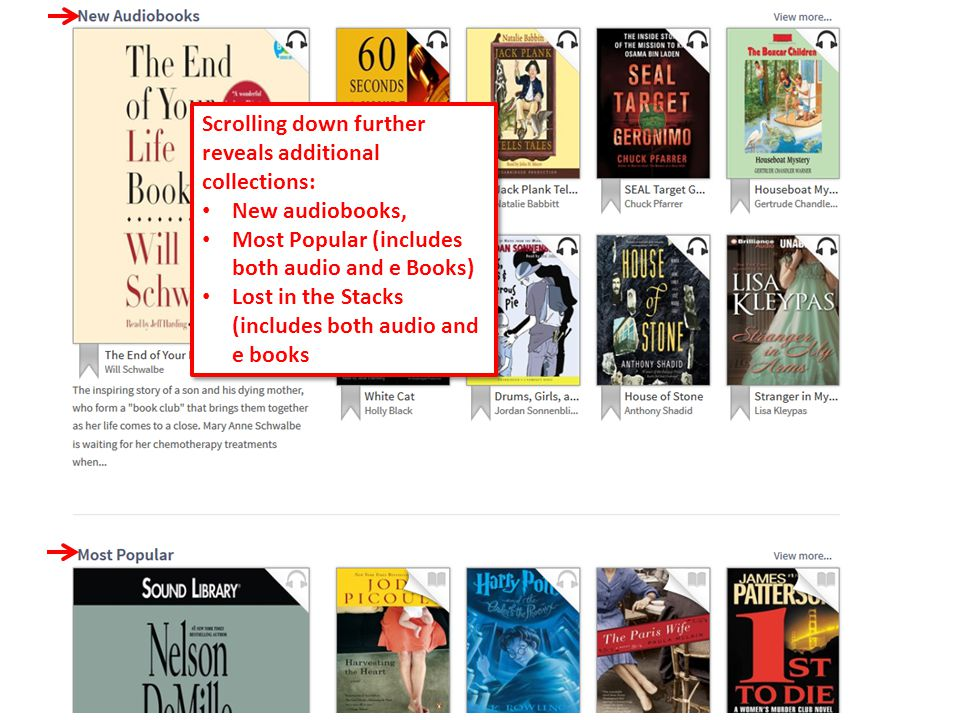 48 When you are browsing, you add a title to your wish list by clicking on the gray banner that appears when you hover over the book jacket.