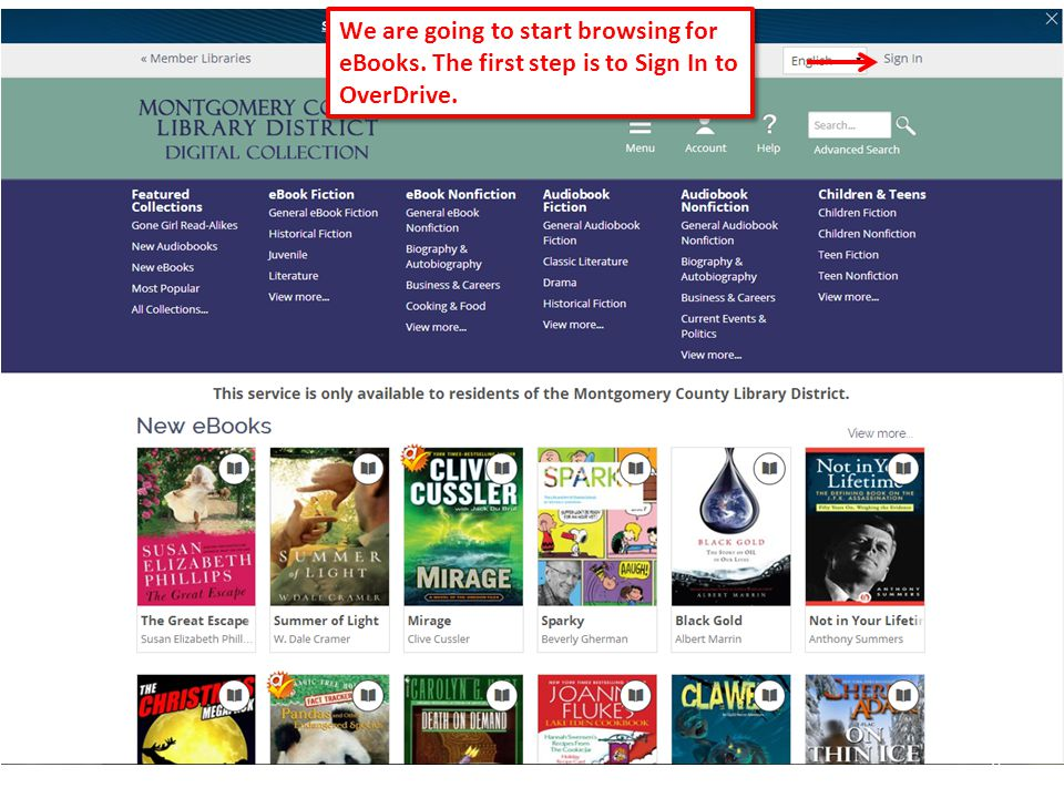 19 Since we clicked on View more from the New eBooks section, our results list will default to a sort by titles most recently added to collection.