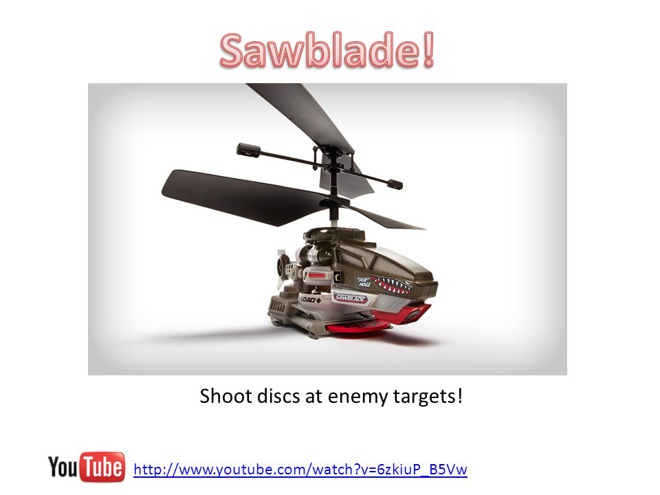 http://www.youtube.com/watch v=6zkiuP_B5Vw Shoot discs at enemy targets!