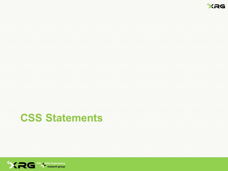 CSS Statements