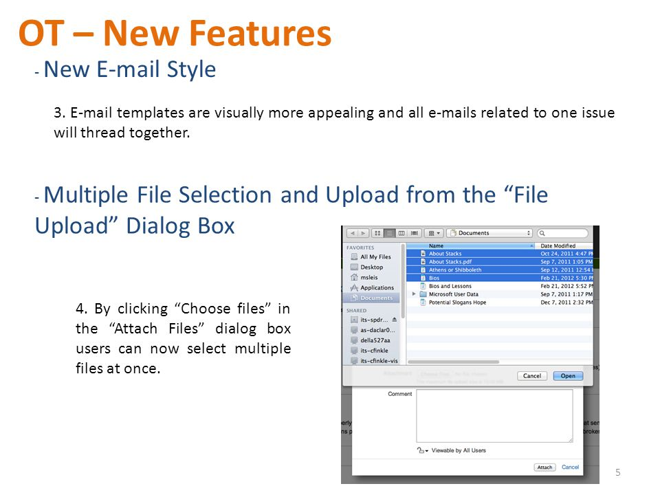 3. E-mail templates are visually more appealing and all e-mails related to one issue will thread together. OT – New Features - New E-mail Style 5 - Mu