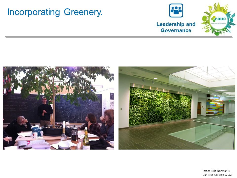 Incorporating Greenery. Imges Nils Norman's Canisius College G-O2