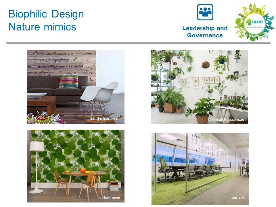 Biophilic Design Nature mimics 'info@minarc.com ' Surface View Interface looseleafstore.com.au