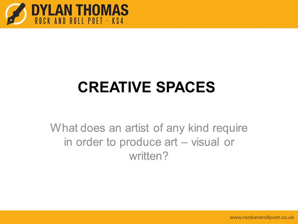 For creative people of all kinds, having a space in which to work is very important.