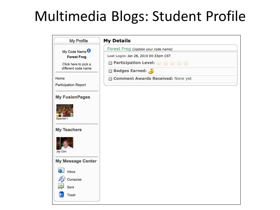 Multimedia Blogs: Student Profile