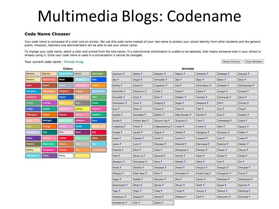 Multimedia Blogs: Codename