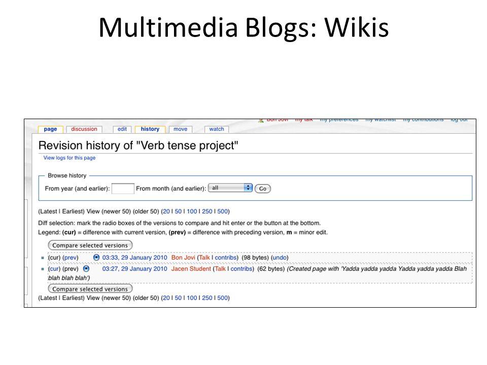 Multimedia Blogs: Wikis