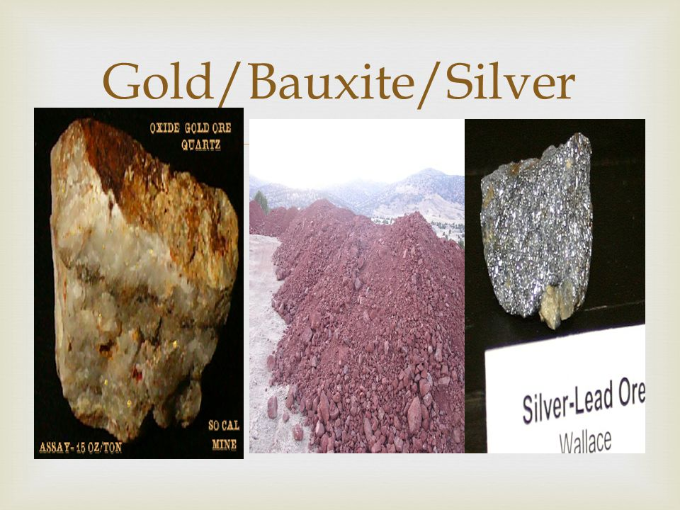  Gold/Bauxite/Silver