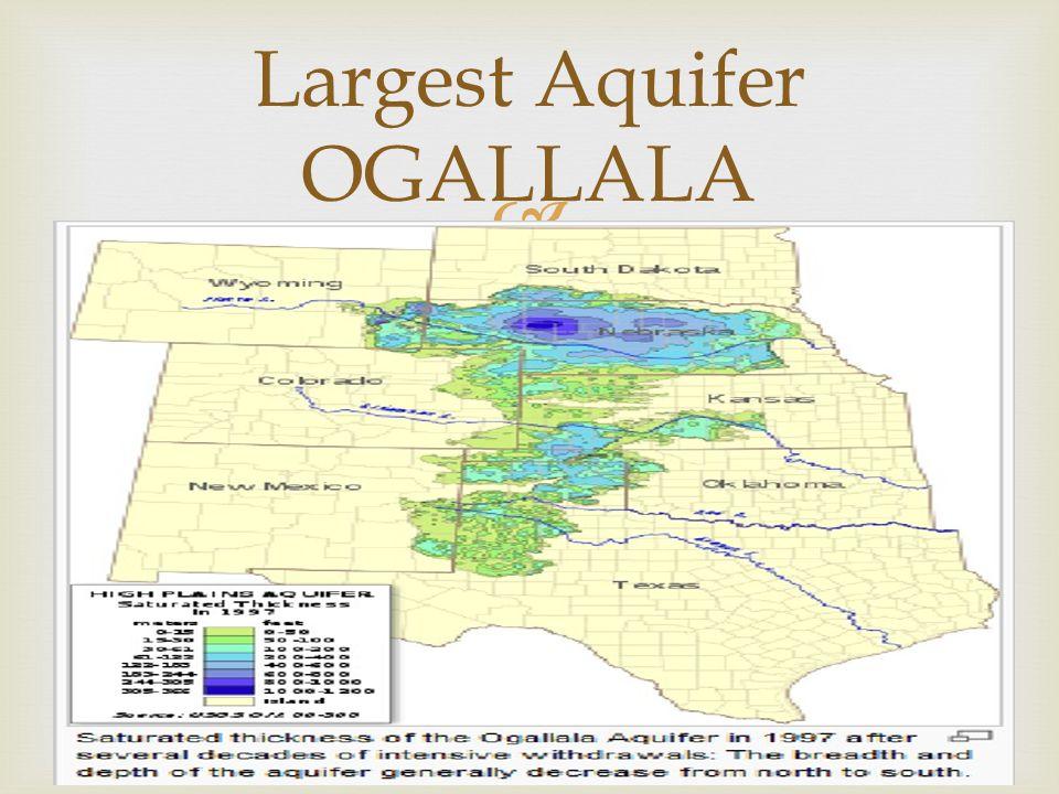  Largest Aquifer OGALLALA