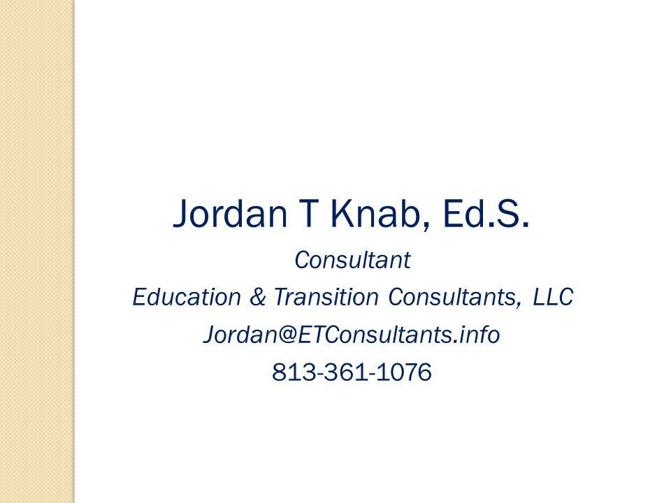 Jordan T Knab, Ed.S.