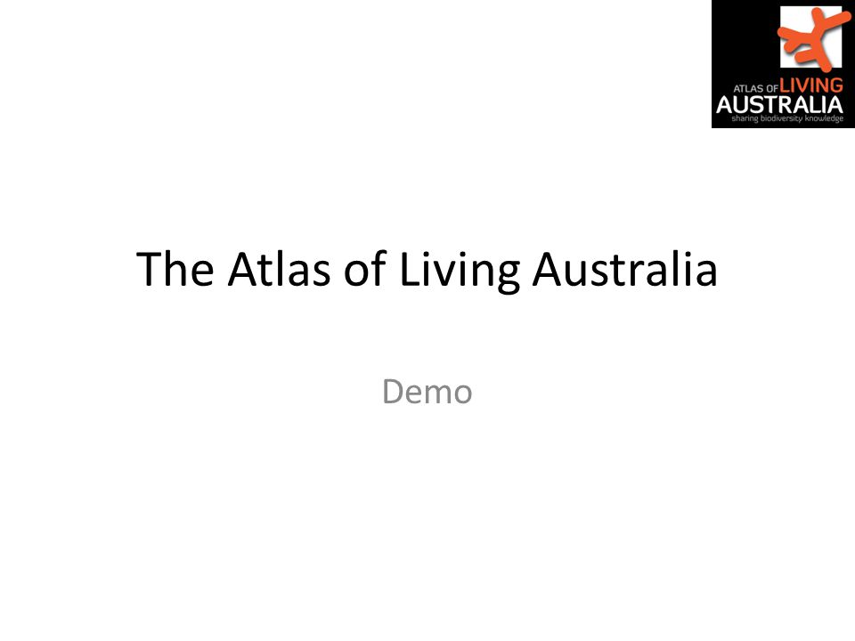 The Atlas of Living Australia Demo