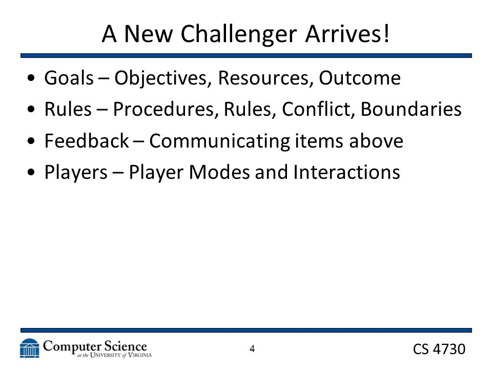 CS 4730 Players Determine what is your player interaction pattern (1 vs.