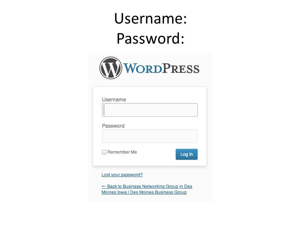 Username: Password: