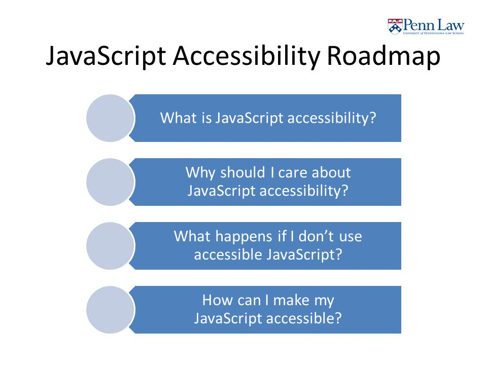 JavaScript Accessibility Roadmap What is JavaScript accessibility.