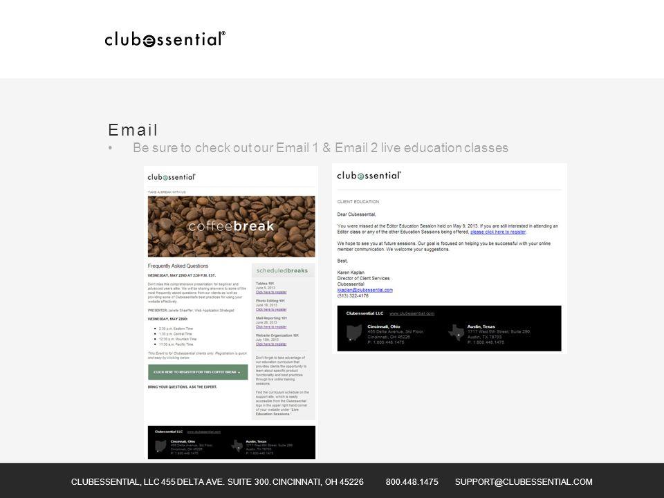 CLUBESSENTIAL, LLC 455 DELTA AVE. SUITE 300.