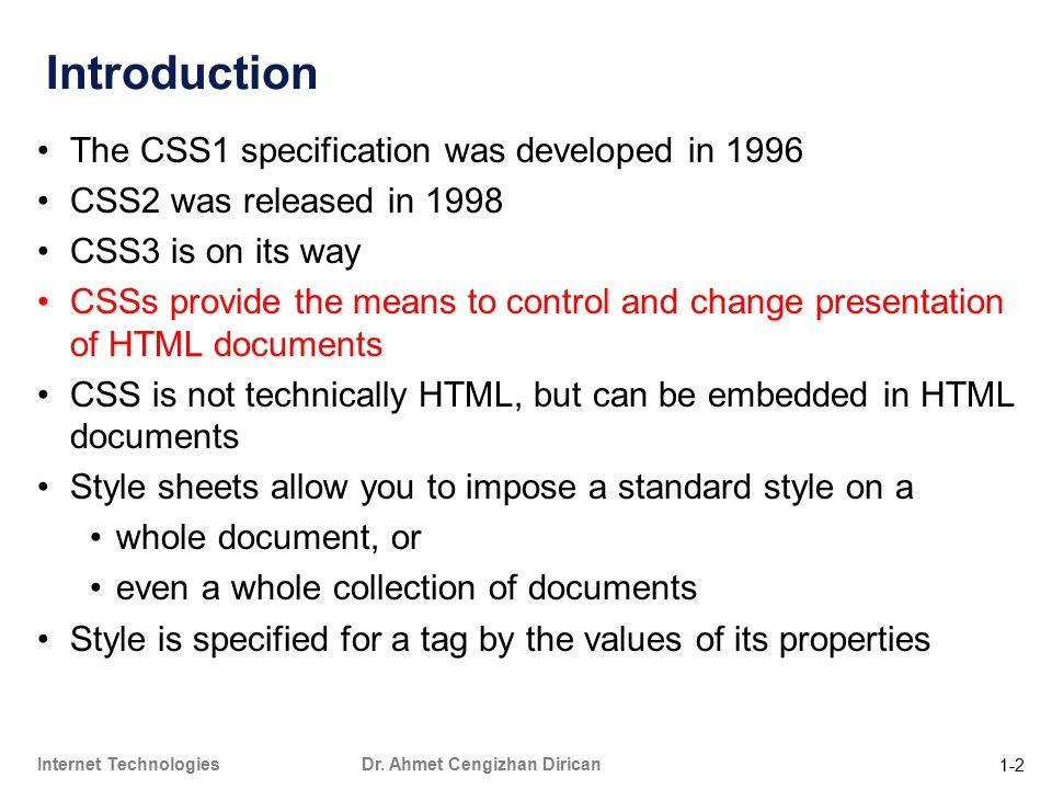 1-2 Internet Technologies Dr.