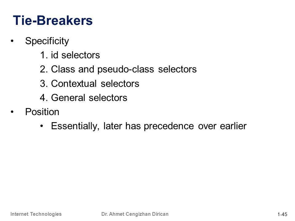 1-45 Internet Technologies Dr.