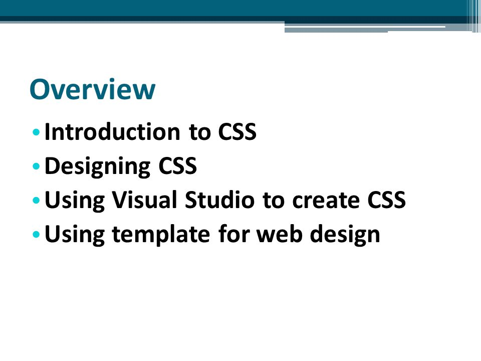 Create CSS file 4.After a new CSS file is created, you can start to add rules to CSS file by typing CSS code in the editor or using design tools of Visual Studio.