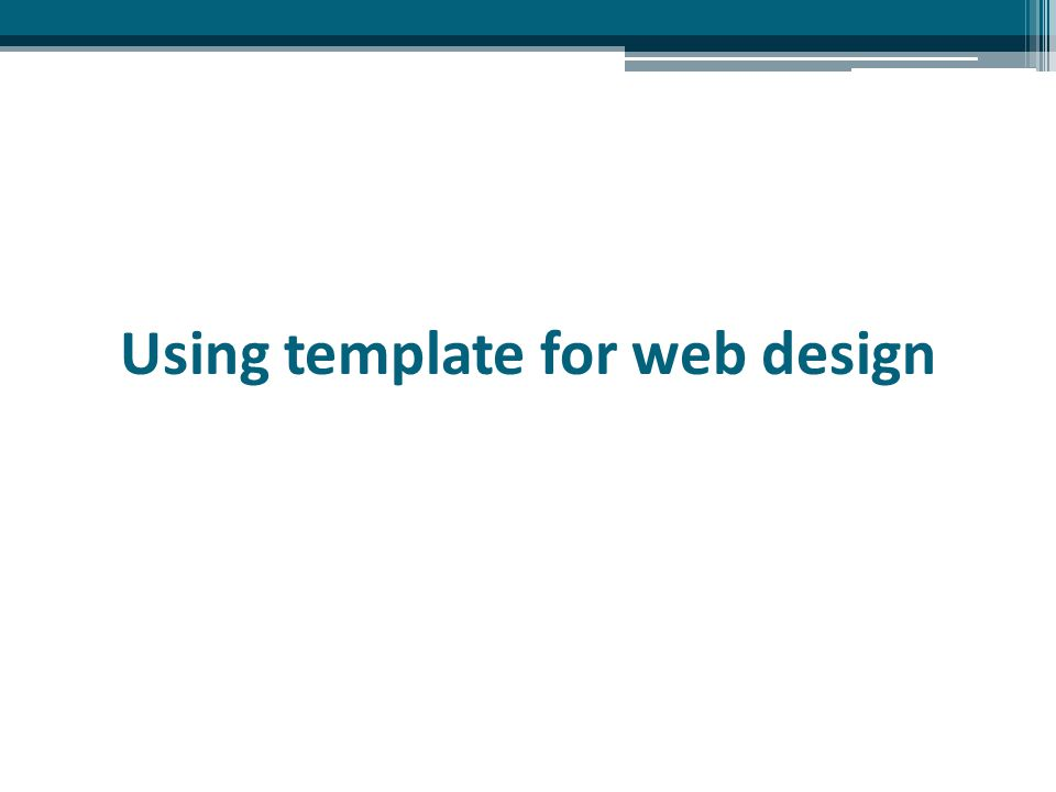 Using template for web design