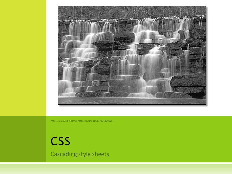 O VERVIEW OF CSS  HTML is about content and structure (semantics)  CSS is all about style (format)  Allows a separation between style and content  Easier to maintain consistent pages across one web application since one style can be applied to all html files  HTML pages become smaller and content focused 2