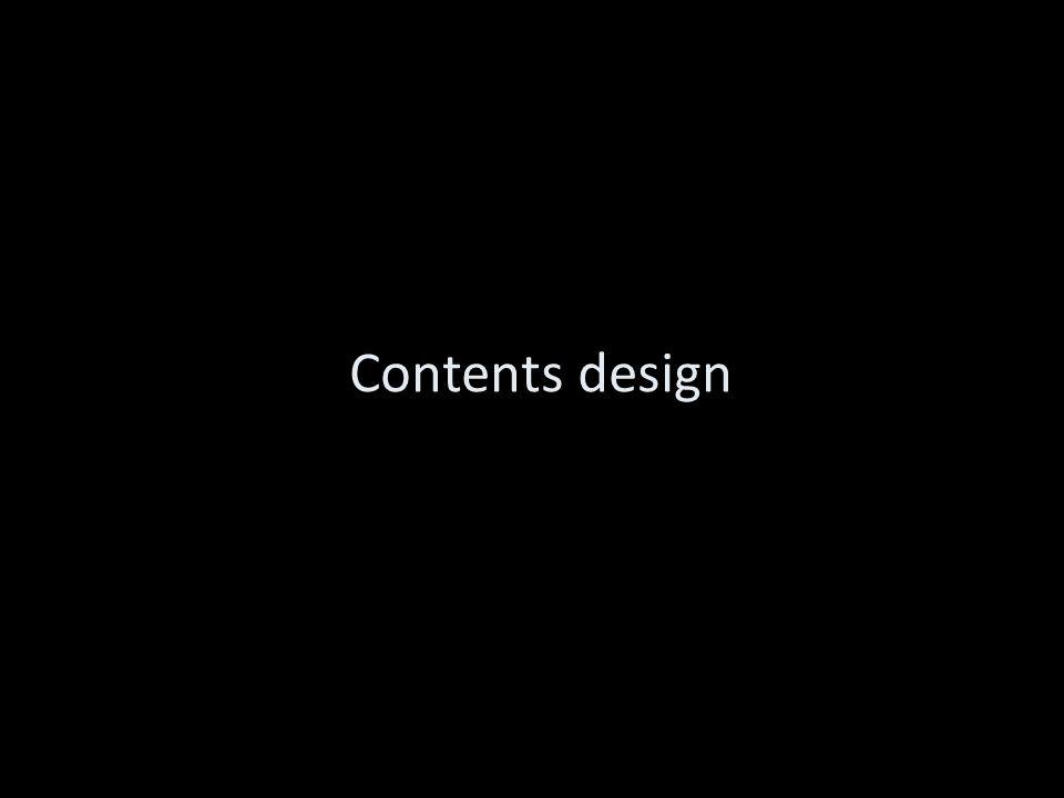 Contents design
