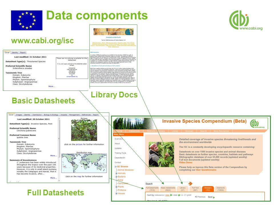 Data components Library Docs Basic Datasheets Full Datasheets www.cabi.org/isc