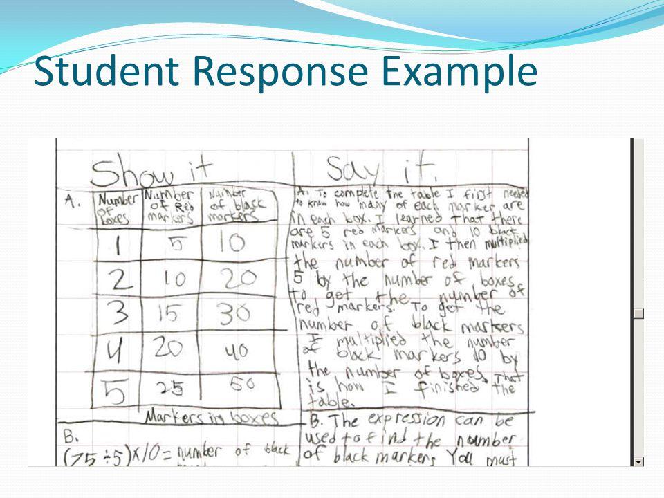 Student Response Example