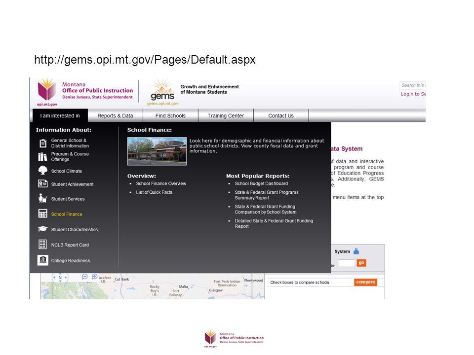 http://gems.opi.mt.gov/Pages/Default.aspx