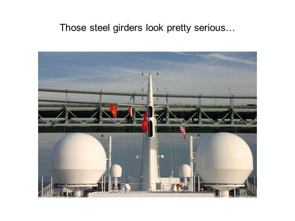 Those steel girders look pretty serious…