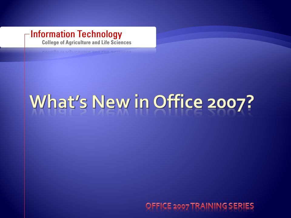  From Microsoft.com: In Word 2007, you can spend more time writing and less time formatting.