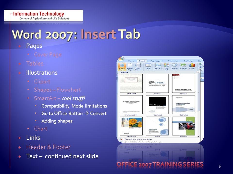 DEMO'S  Word 2007  http://office.microsoft.com/en-us/getstarted/HA100742241033.aspx http://office.microsoft.com/en-us/getstarted/HA100742241033.aspx  Demo http://office.microsoft.com/en- us/word/HA100484691033.aspx?pid=CH101030941033http://office.microsoft.com/en- us/word/HA100484691033.aspx?pid=CH101030941033  Excel  Demo http://office.microsoft.com/en- us/excel/HA100484501033.aspx?pid=CH101030621033http://office.microsoft.com/en- us/excel/HA100484501033.aspx?pid=CH101030621033  PowerPoint  Demo http://office.microsoft.com/en- us/powerpoint/HA100484621033.aspx?pid=CH101030561033http://office.microsoft.com/en- us/powerpoint/HA100484621033.aspx?pid=CH101030561033  Access  Demo http://office.microsoft.com/en- us/access/HA102002991033.aspx?pid=CH100739911033http://office.microsoft.com/en- us/access/HA102002991033.aspx?pid=CH100739911033 27