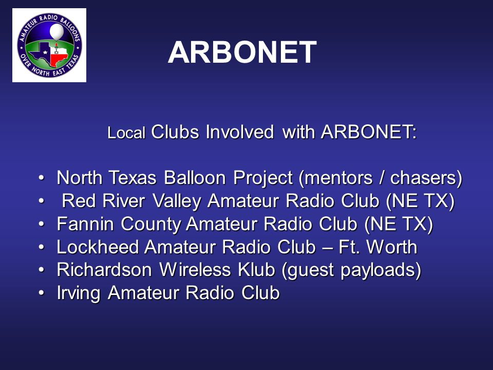 What We Really Want To See! ARBONET