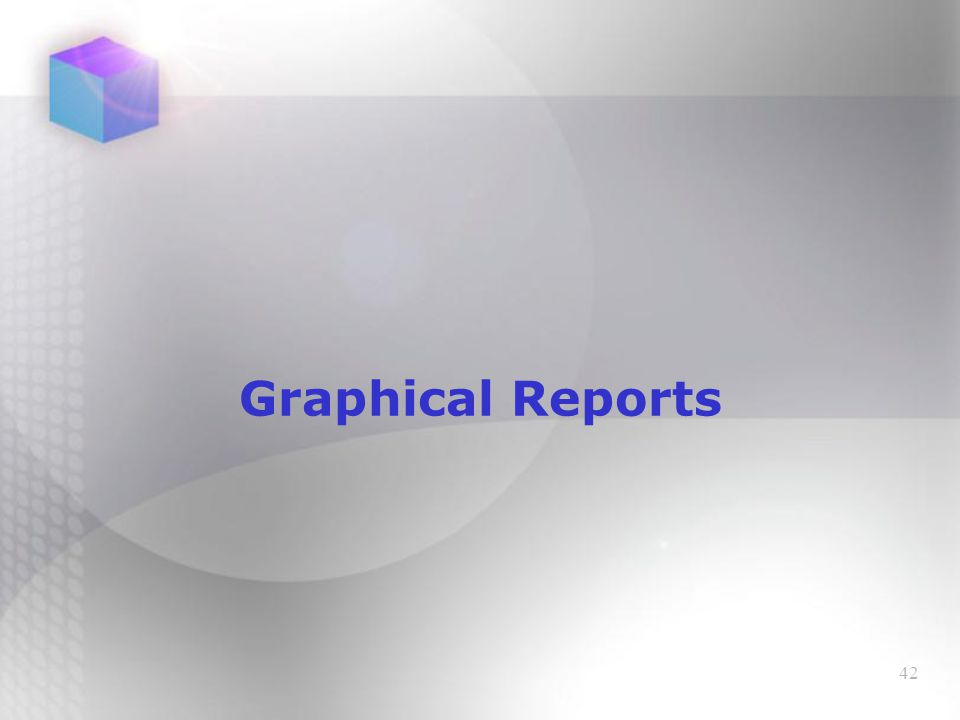 42 Graphical Reports
