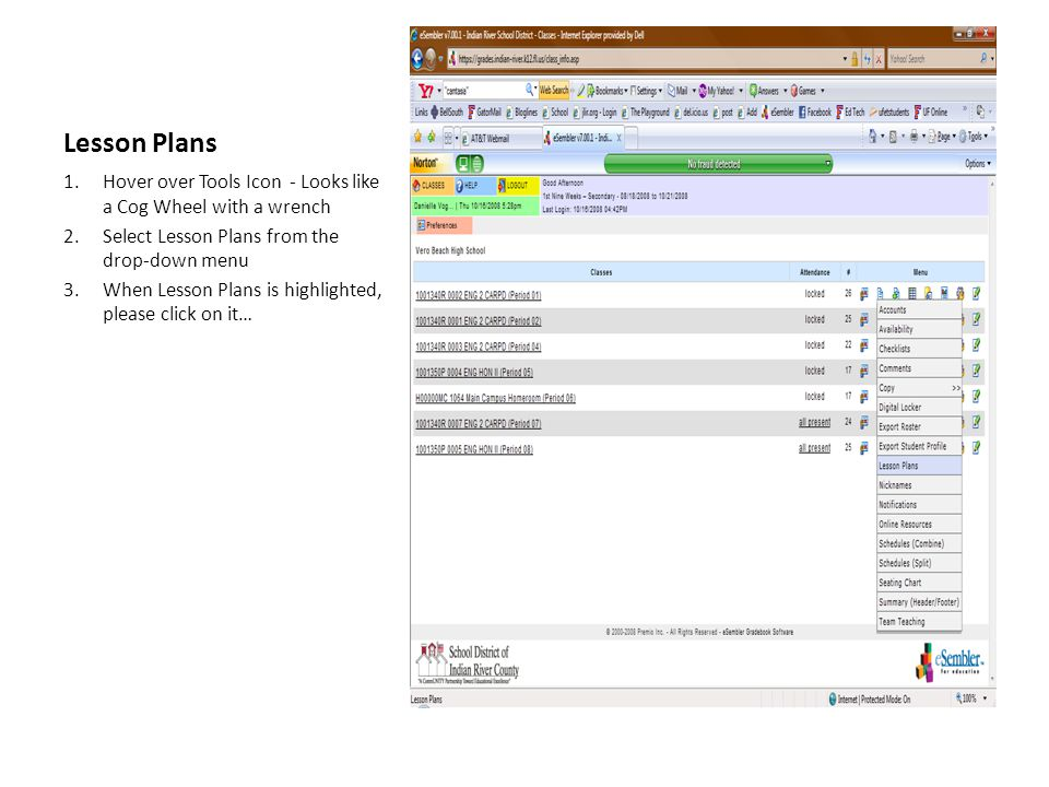 Add Lesson 1.Using the Salmon colored menu bars in the middle of the screen, select Add Lesson 2.Click Add Lesson now…