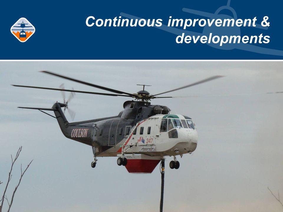 Continuous improvement & developments