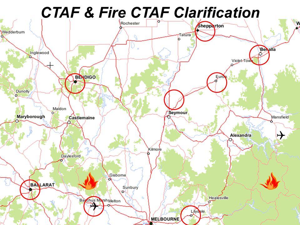 CTAF & Fire CTAF Clarification  